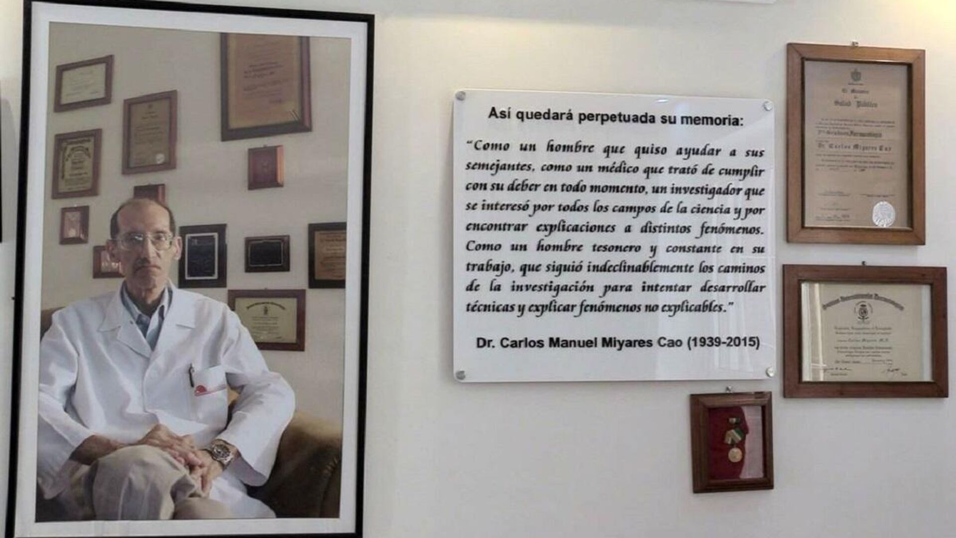Homenaje al doctor Carlos Manuel Miyares Cao - Sputnik Mundo, 1920, 27.04.2021