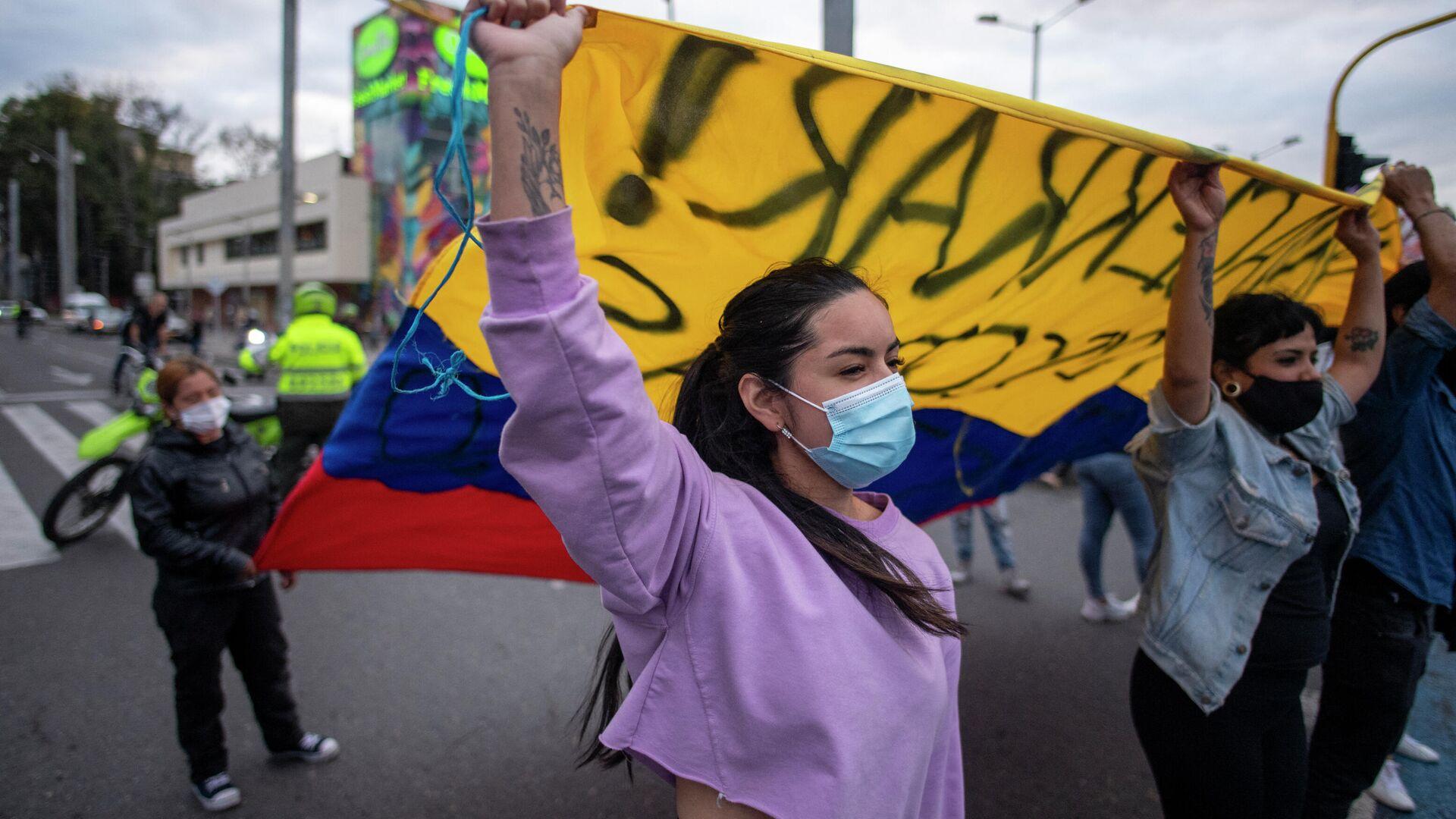 Manifestación en Bogotá, Colombia - Sputnik Mundo, 1920, 16.05.2021