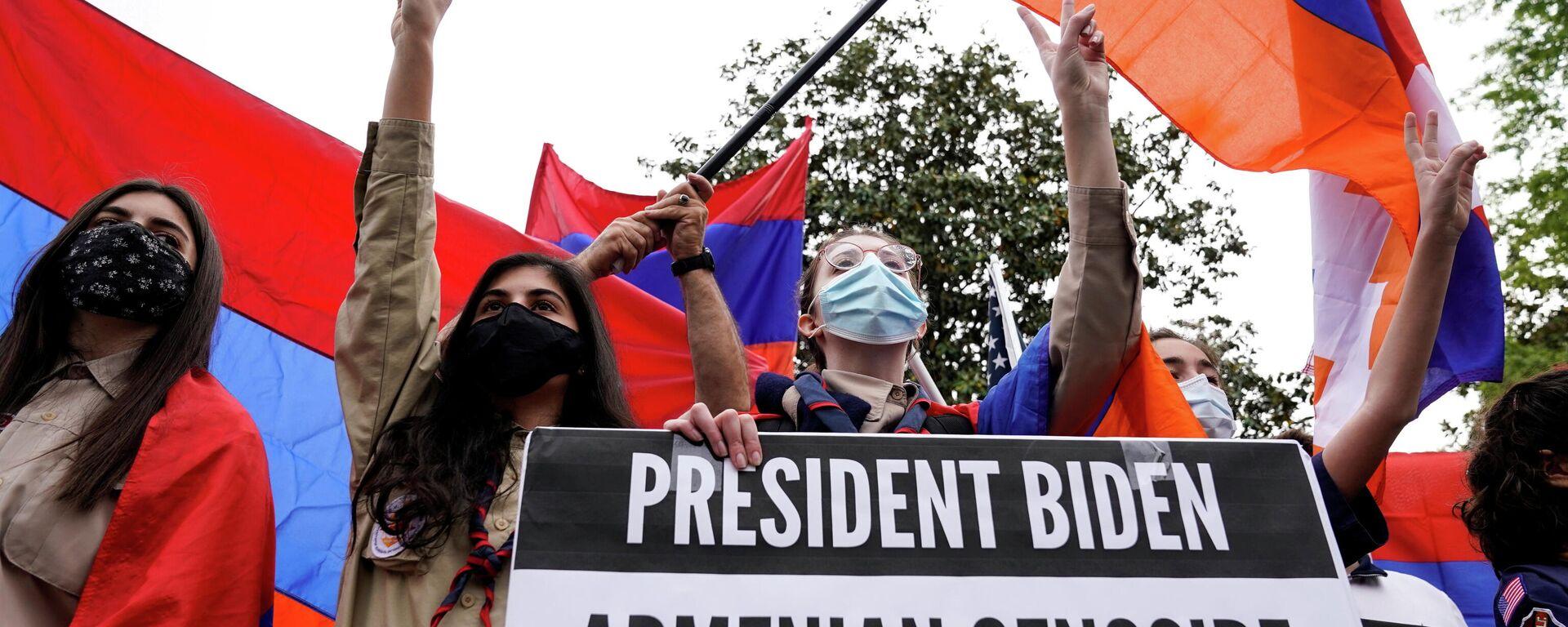 Manifestación de los armenios contra el genocidio - Sputnik Mundo, 1920, 27.04.2021