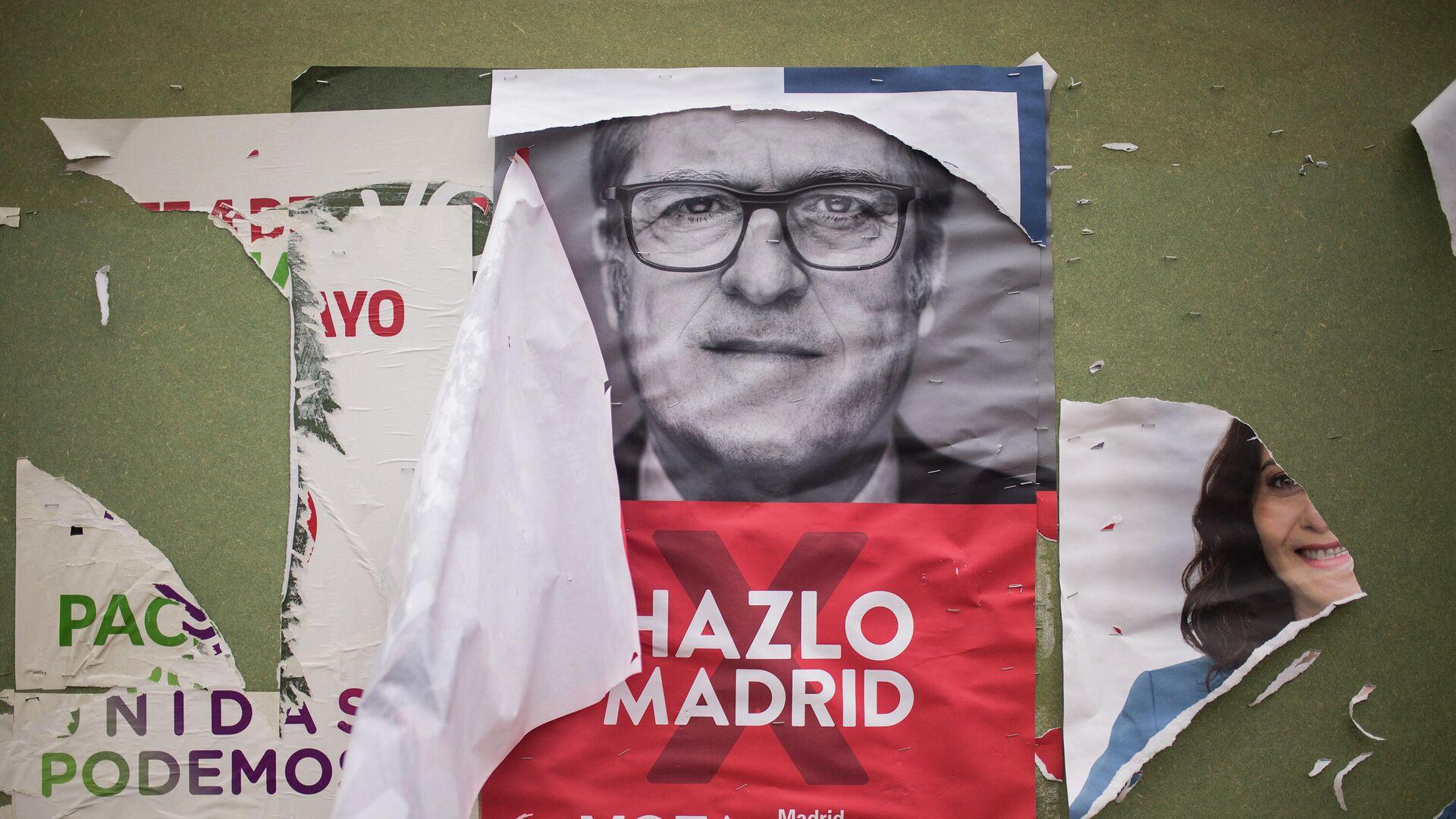 Un cartel electoral del PSOE-M  - Sputnik Mundo, 1920, 27.04.2021