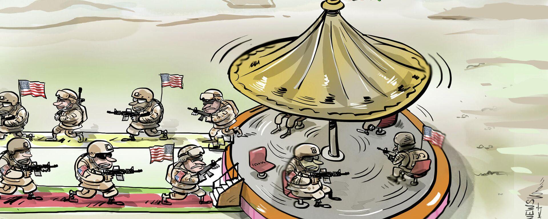 Para sacar a tropas de Afganistán, EEUU envía aún más tropas - Sputnik Mundo, 1920, 28.04.2021