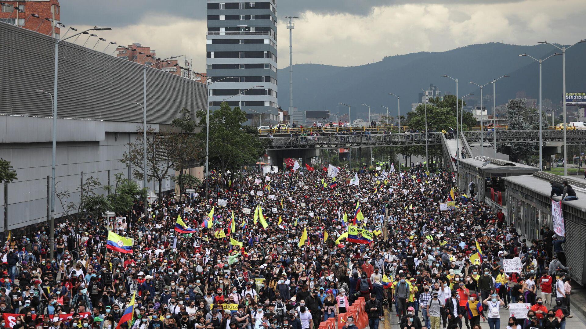 Protest en Colombia - Sputnik Mundo, 1920, 28.04.2021