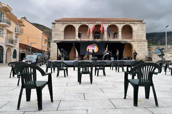 Ayuntamiento de Bustarviejo, un pueblo del norte de Madrid - Sputnik Mundo