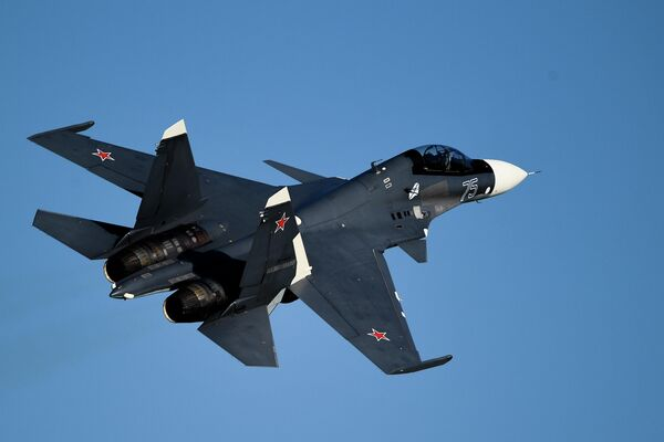 Un cazabombardero Su-30SM de la Armada rusa - Sputnik Mundo