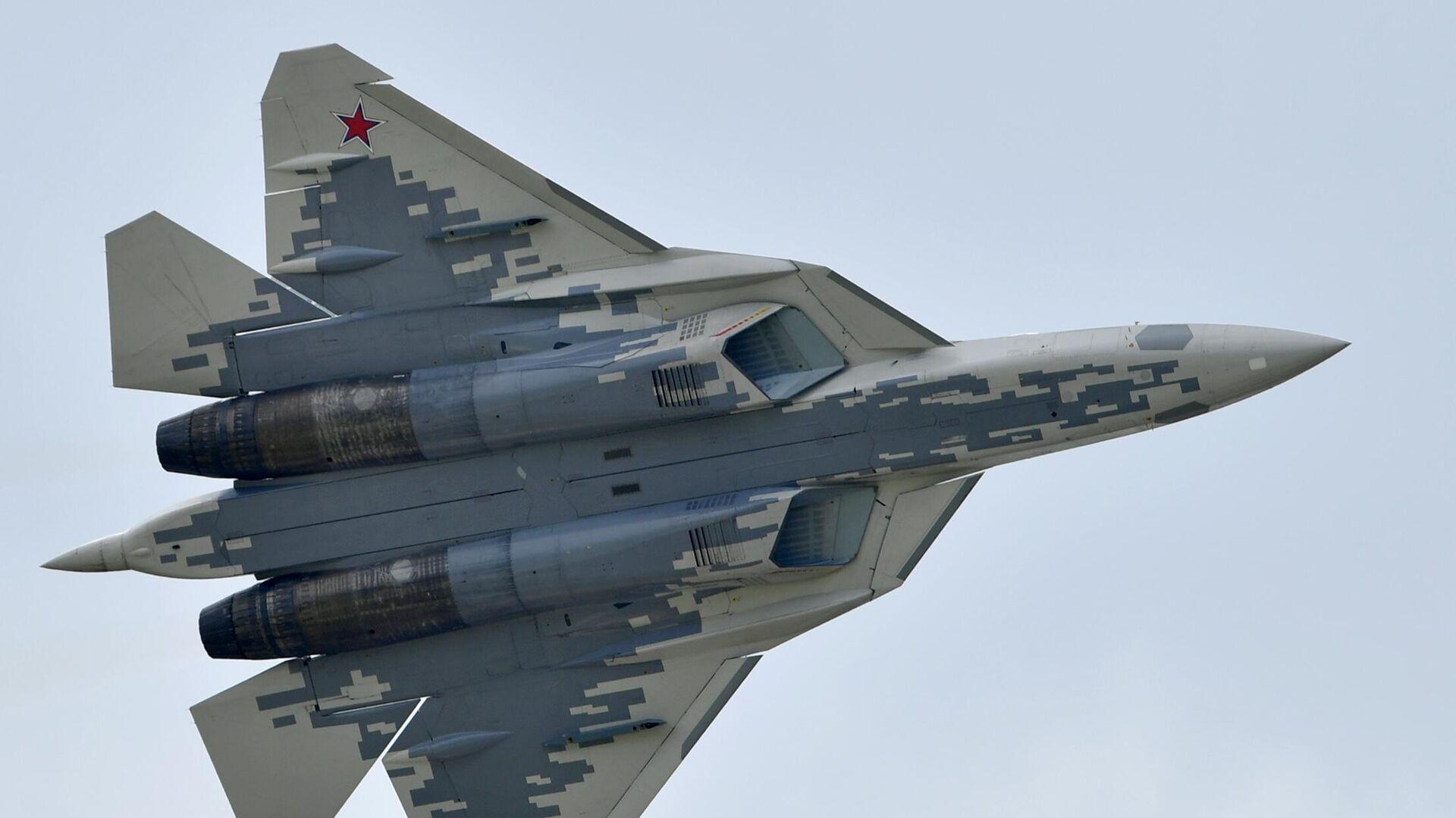 Un caza Su-57 de las Fuerzas Aeroespaciales de Rusia - Sputnik Mundo, 1920, 10.05.2021