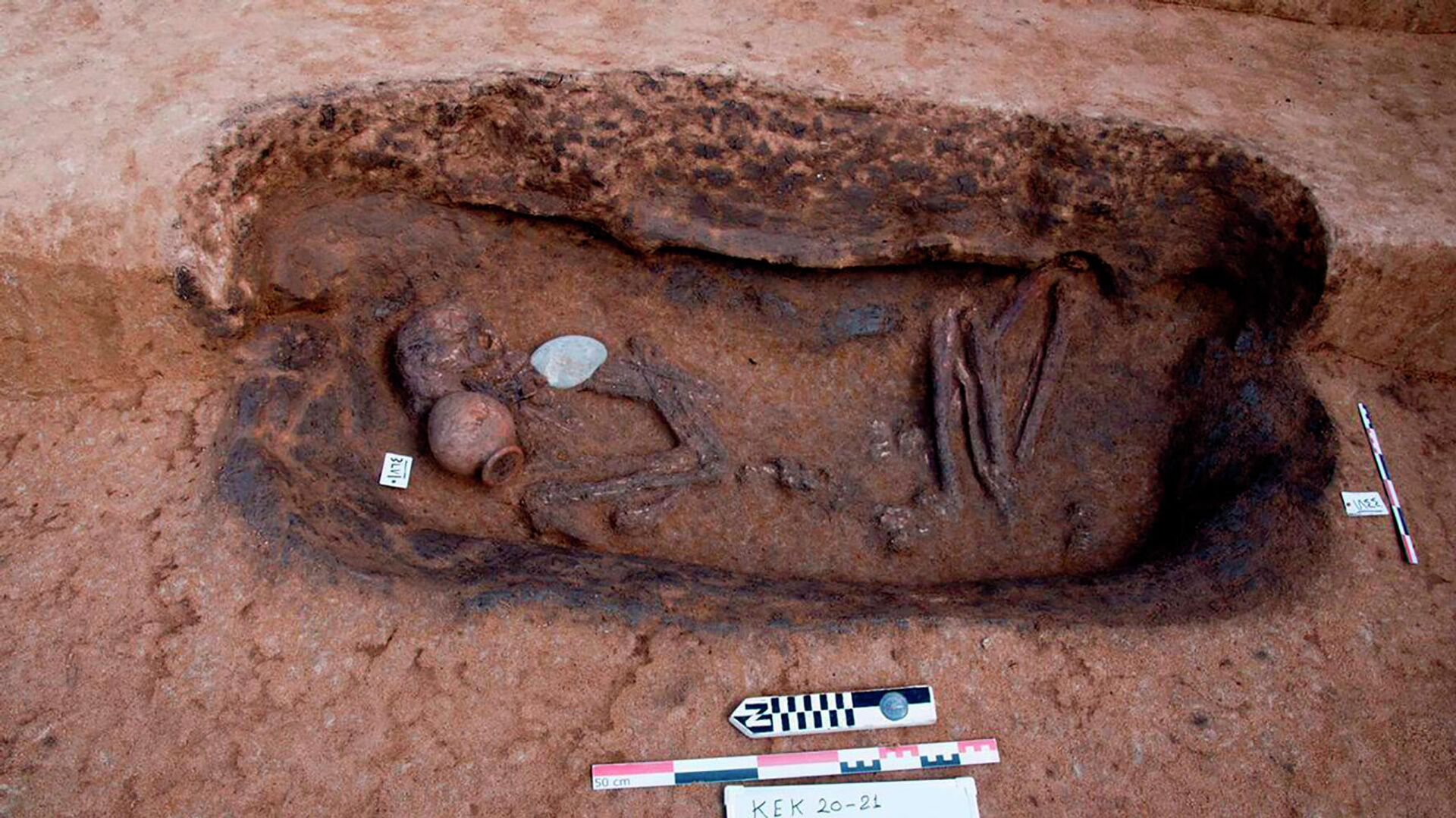Tumbas en el sitio arqueológico de Koum el-Khulgan en el Delta del Nilo - Sputnik Mundo, 1920, 29.04.2021