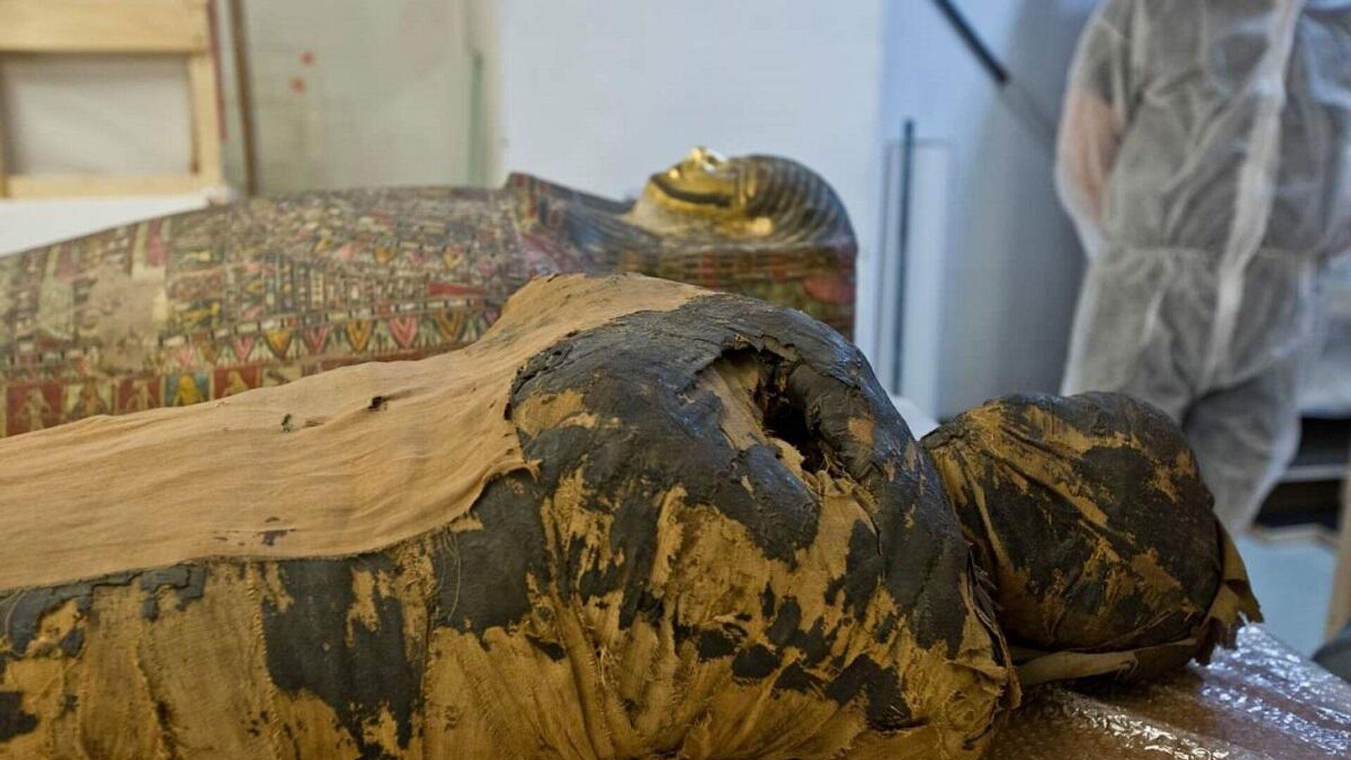La primera momia egipcia de una mujer embarazada que se conoce hasta ahora - Sputnik Mundo, 1920, 30.04.2021