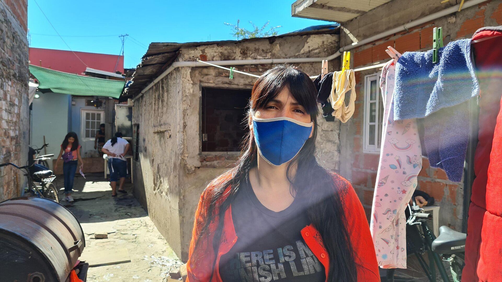 Viviana Echeverría, vecina de la villa 21-24, teme mandar a su hija a la escuela - Sputnik Mundo, 1920, 30.04.2021
