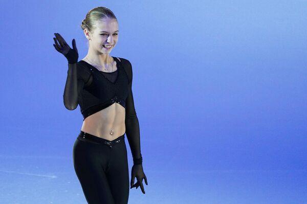 'La reina de los saltos cuádruples' durante el concurso de saltos en la Copa del canal 1 - Sputnik Mundo