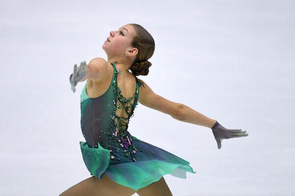 Alexandra Trúsova durante su actuación en la IV etapa de la Copa de Rusia - Sputnik Mundo