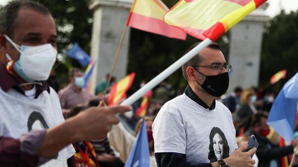 El cierre de campaña de las elecciones regionales en Madrid, España - Sputnik Mundo