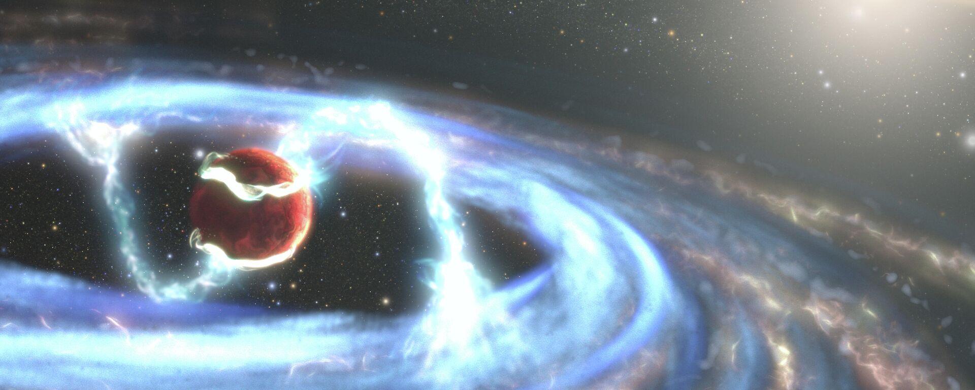 La formación de exoplaneta (imagen referencial) - Sputnik Mundo, 1920, 03.05.2021