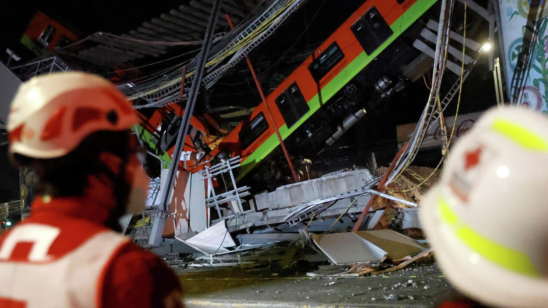 Se desploma un puente de metro de la Ciudad de México - Sputnik Mundo, 1920, 04.05.2021