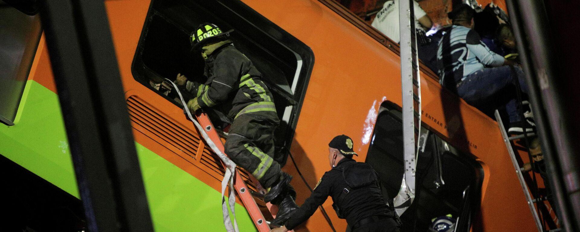 Operaciones de rescate a las víctimas tras el colapso del metro en México - Sputnik Mundo, 1920, 12.05.2021