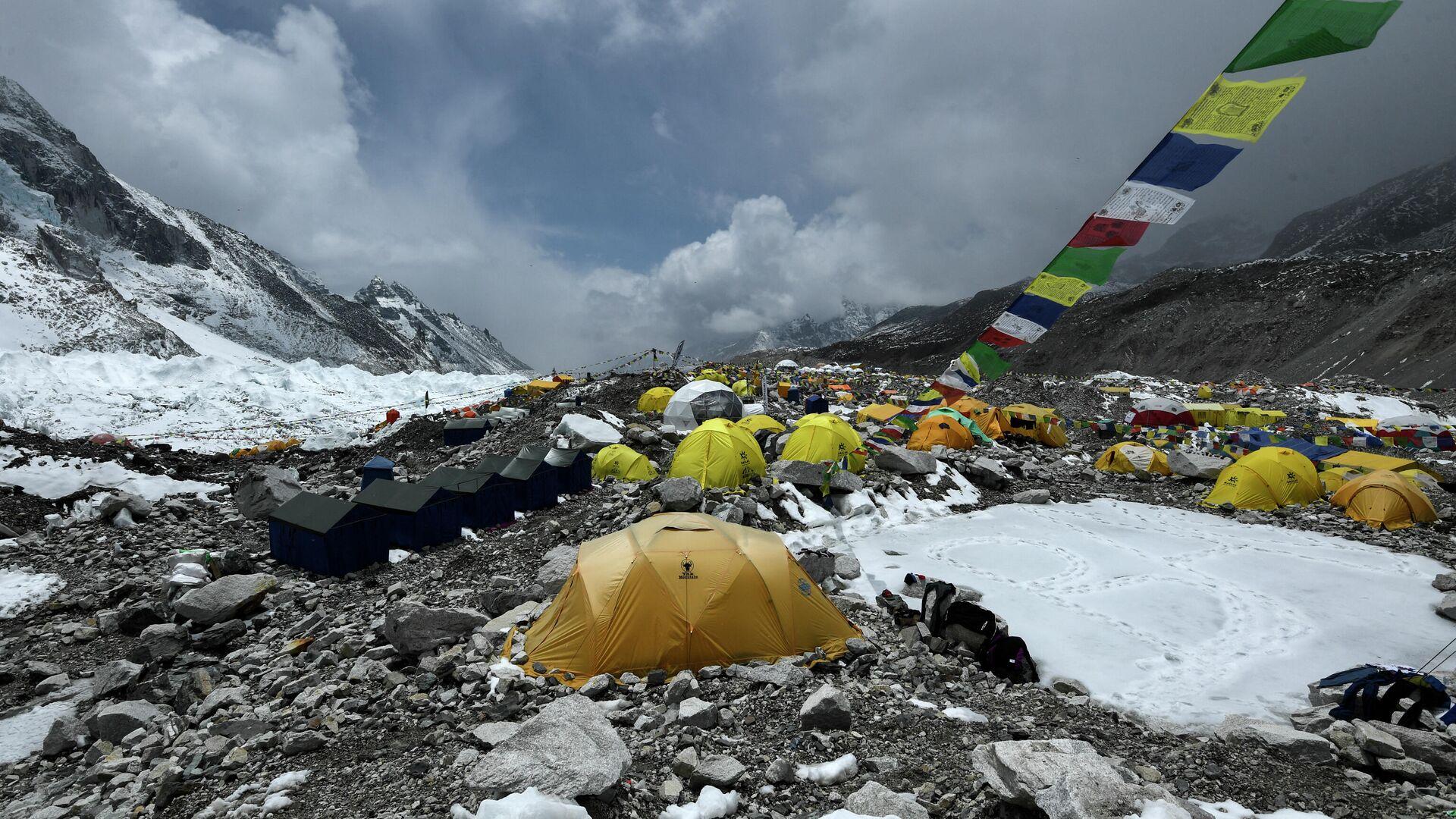 Campamento de ascenso al Everest - Sputnik Mundo, 1920, 05.05.2021