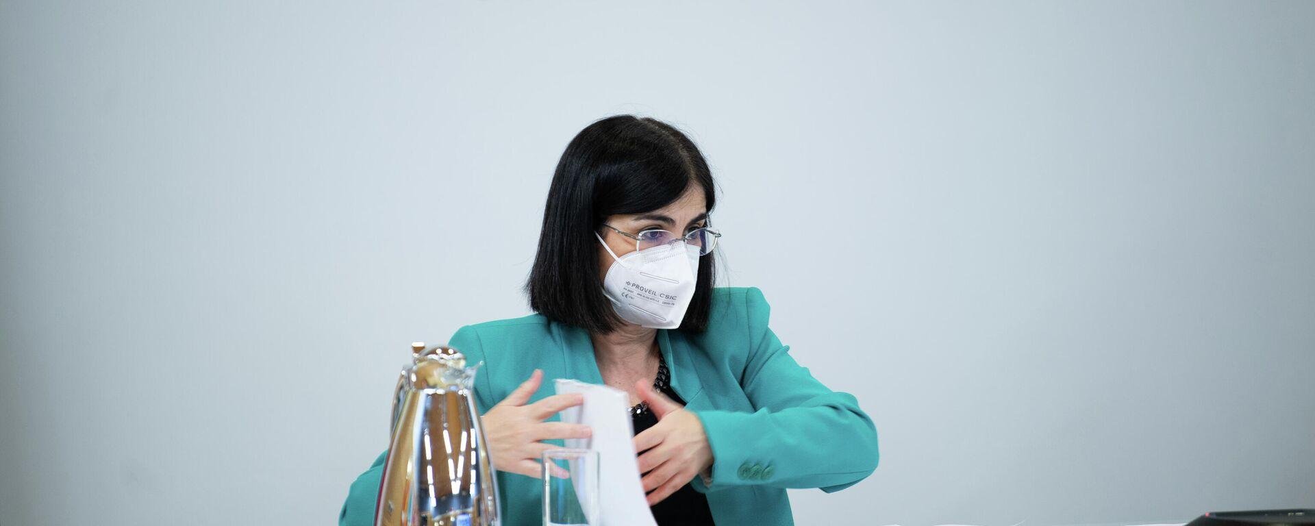 La ministra de Sanidad de España, Carolina Darias, durante la rueda de prensa del Consejo Interterritorial del Sistema Nacional de Salud - Sputnik Mundo, 1920, 26.05.2021