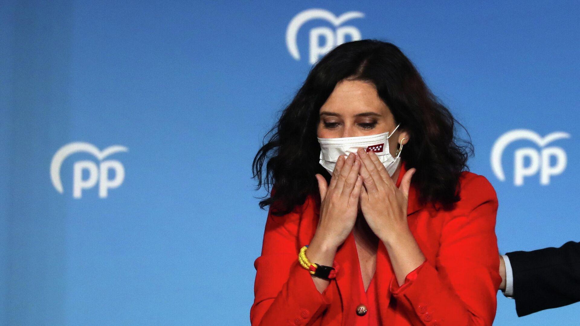 Isabel Díaz Ayuso, candidata del conservador Partido Popular en España - Sputnik Mundo, 1920, 05.05.2021