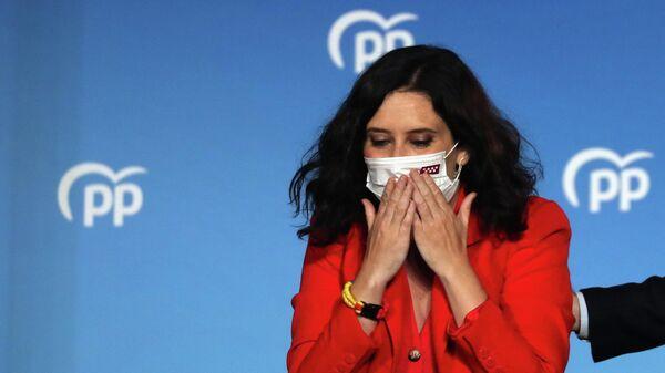 Isabel Díaz Ayuso, candidata del conservador Partido Popular en España - Sputnik Mundo