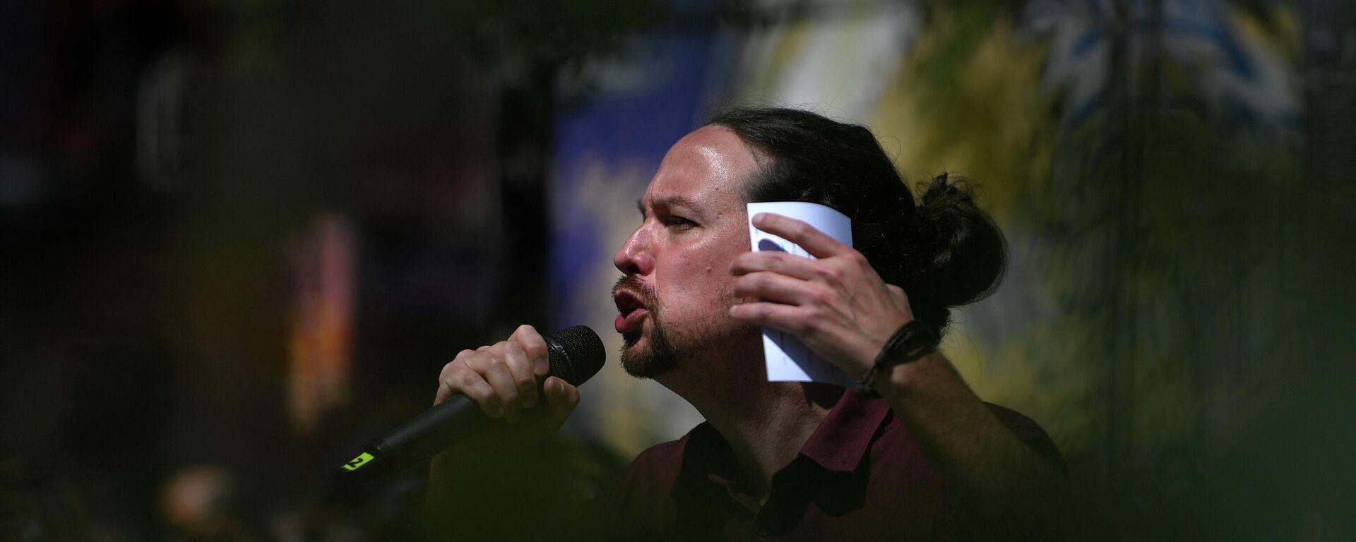 Pablo Iglesias durante un acto de campaña en Madrid, 18 de abril de 2021 - Sputnik Mundo, 1920, 06.05.2021