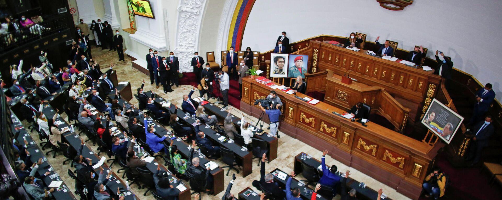 La seseión de elección de un nuevo Consejo Nacional Electoral en la Asamblea Nacional de Venezuela - Sputnik Mundo, 1920, 06.05.2021