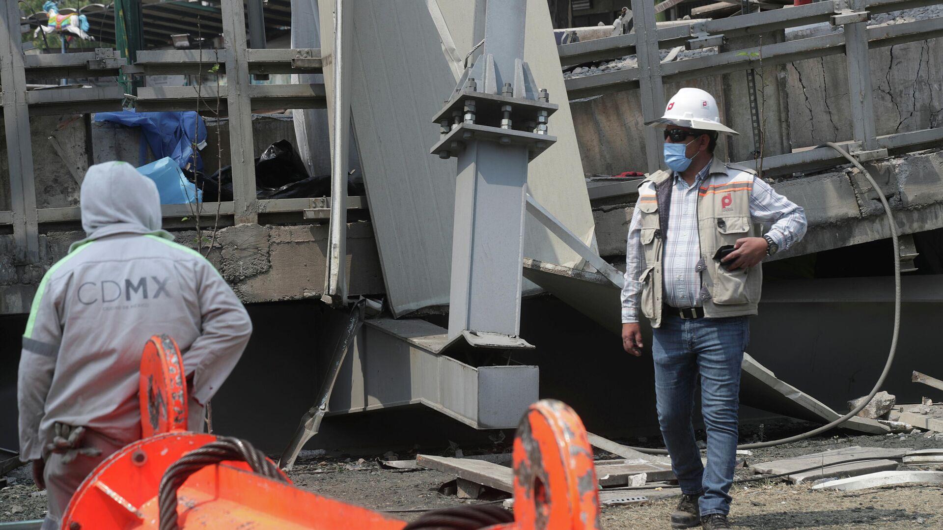 El derrumbe de un puente y un tren de la Línea 12 del Metro de la Ciudad de México - Sputnik Mundo, 1920, 06.05.2021
