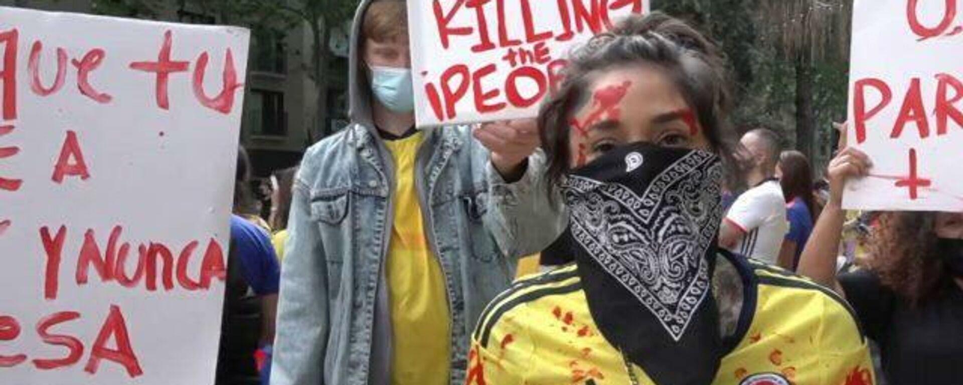Barcelona se solidariza con las protestas en Colombia - Sputnik Mundo, 1920, 07.05.2021