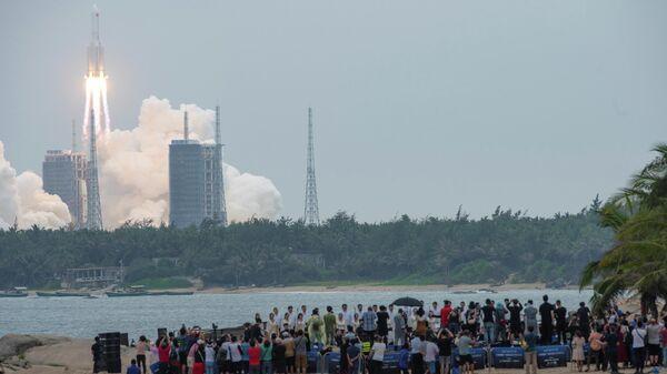 Cohete chino Long March 5B - Sputnik Mundo