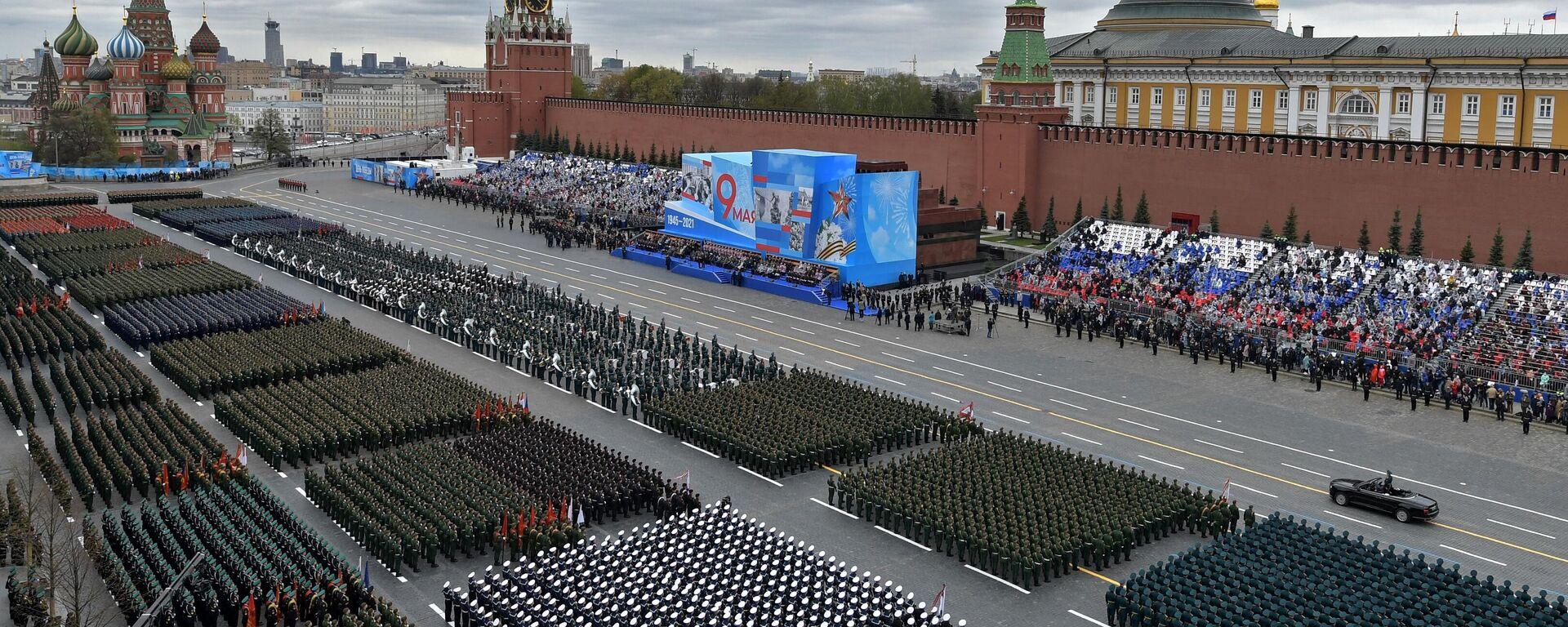 El desfile militar dedicado al 76 aniversario de la victoria en la Gran Guerra Patria en Moscú - Sputnik Mundo, 1920, 09.05.2021