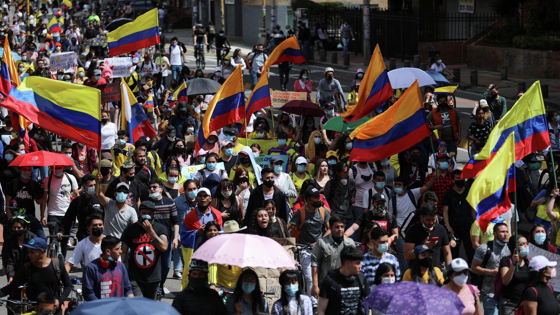 Protestas en Bogotá, Colombia - Sputnik Mundo, 1920, 19.05.2021