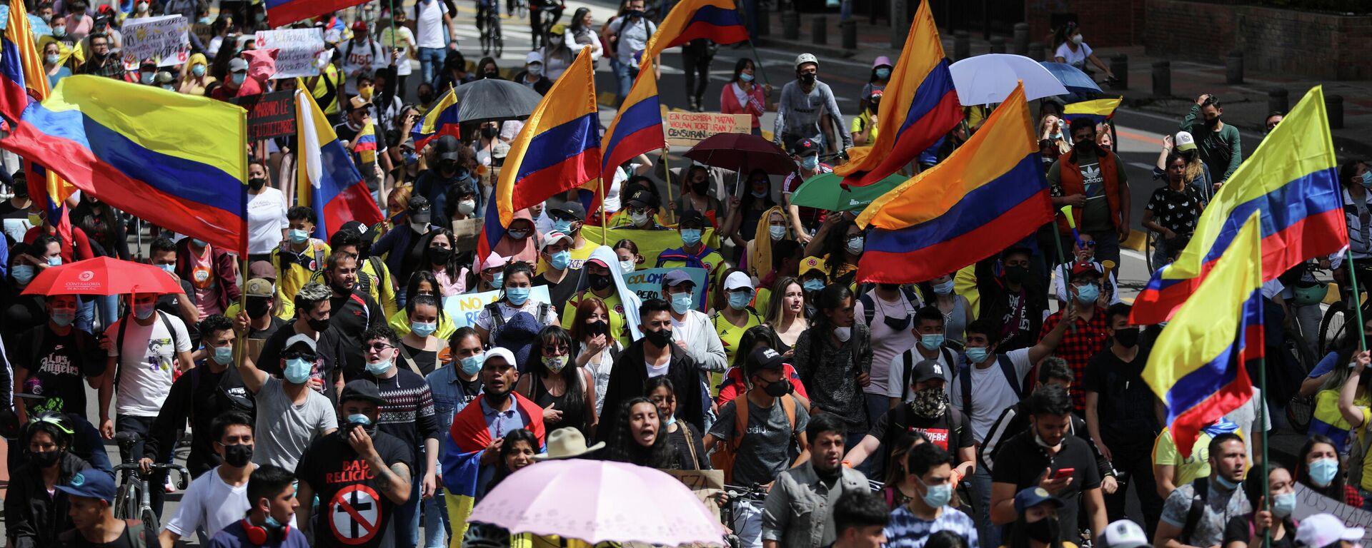 Protestas en Bogotá, Colombia - Sputnik Mundo, 1920, 12.05.2021