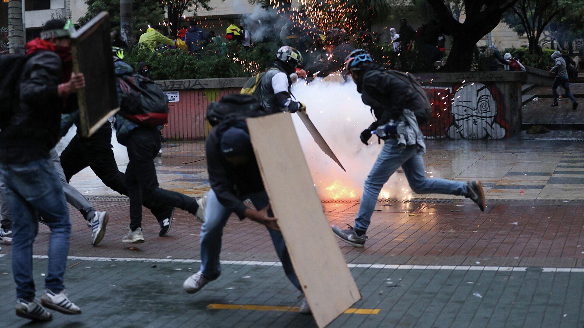 Protestas en Bogotá, Colombia - Sputnik Mundo, 1920, 09.05.2021