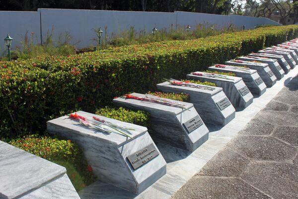 Tumbas de soldados internacionalistas soviéticos muertos en Cuba - Sputnik Mundo
