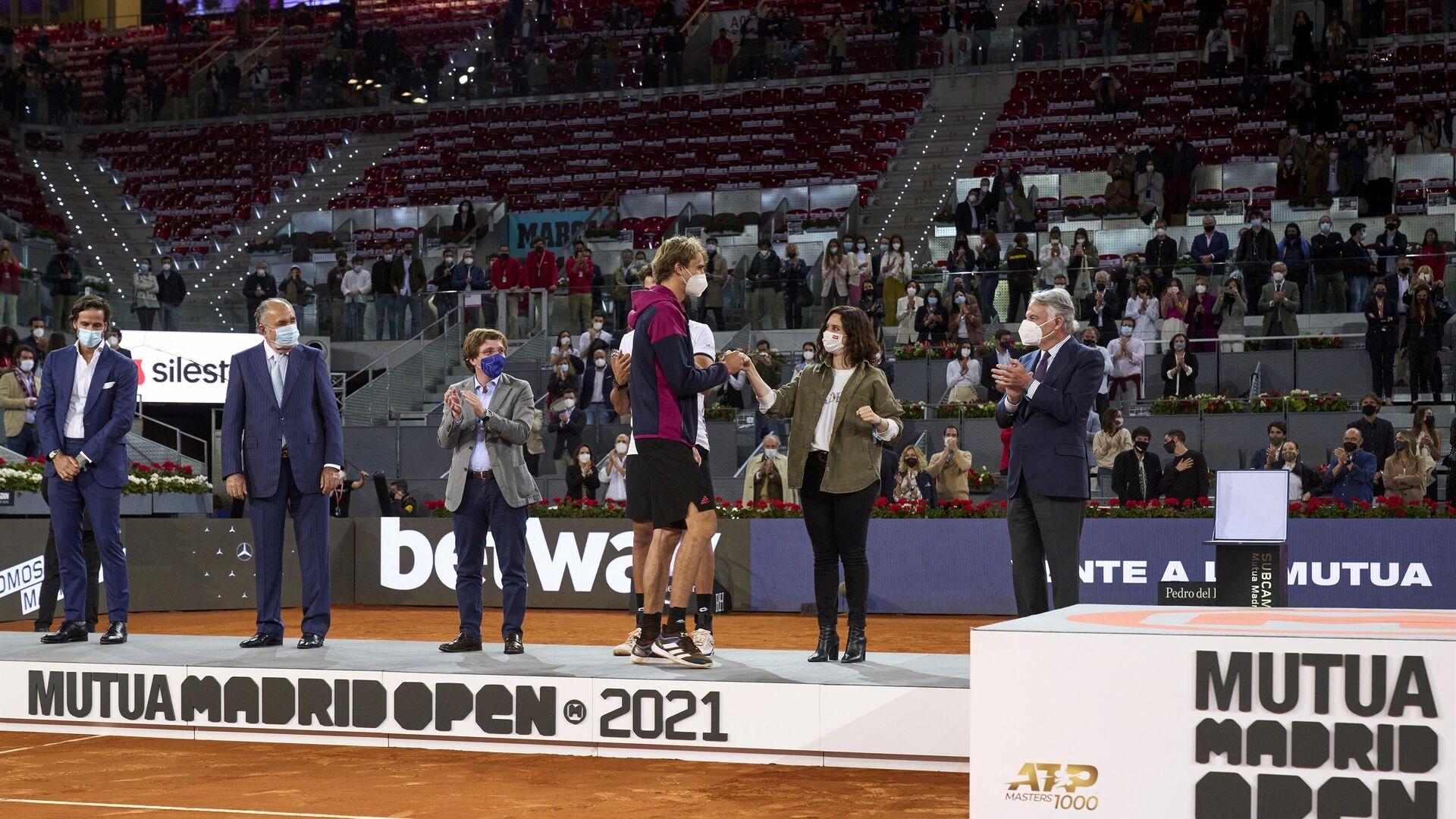 Ayuso y Almeida asisten a la final del Mutua Madrid Open - Sputnik Mundo, 1920, 10.05.2021