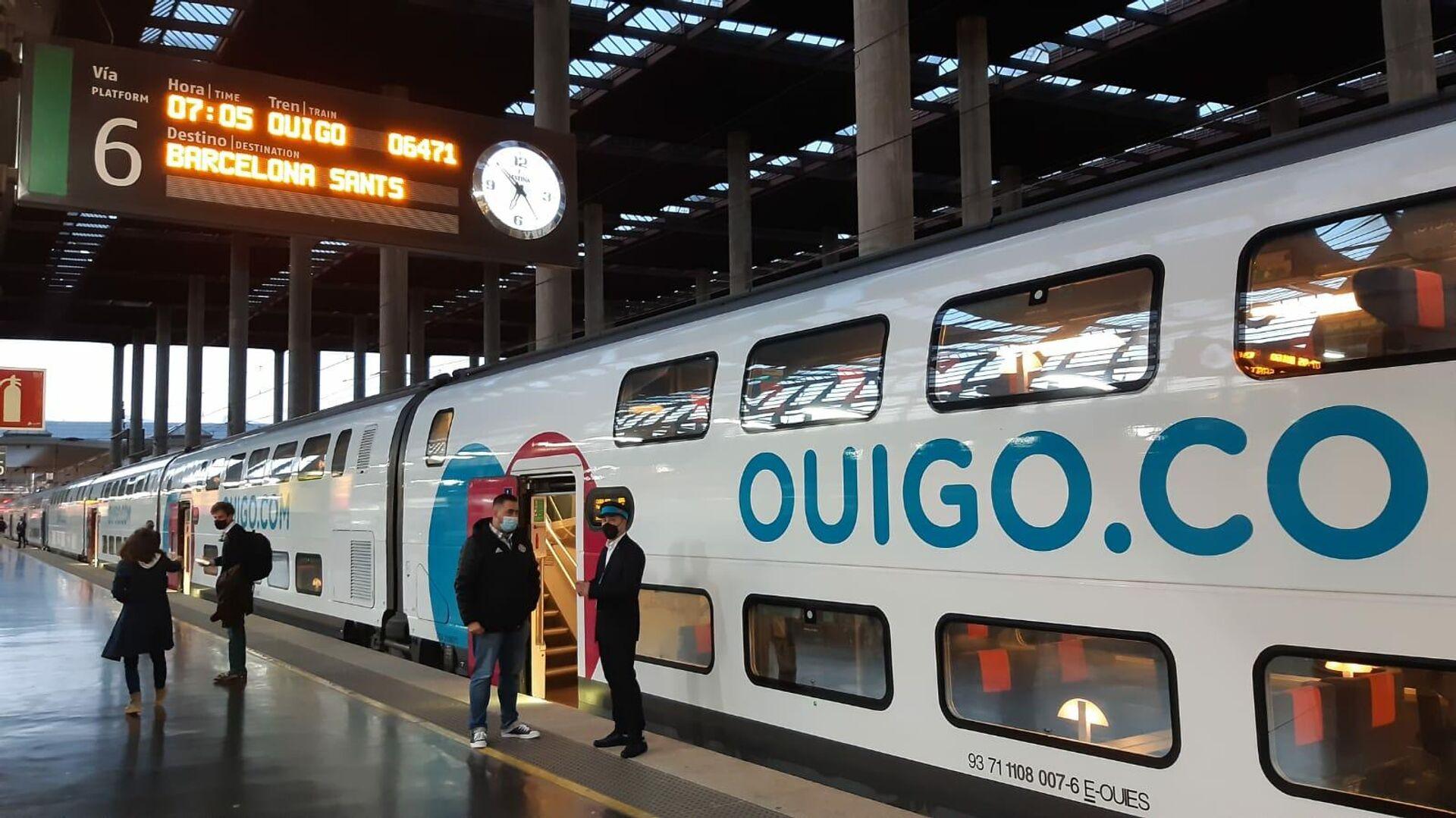 Tren de Ouigo en la estación de Atocha (Madrid) - Sputnik Mundo, 1920, 10.05.2021