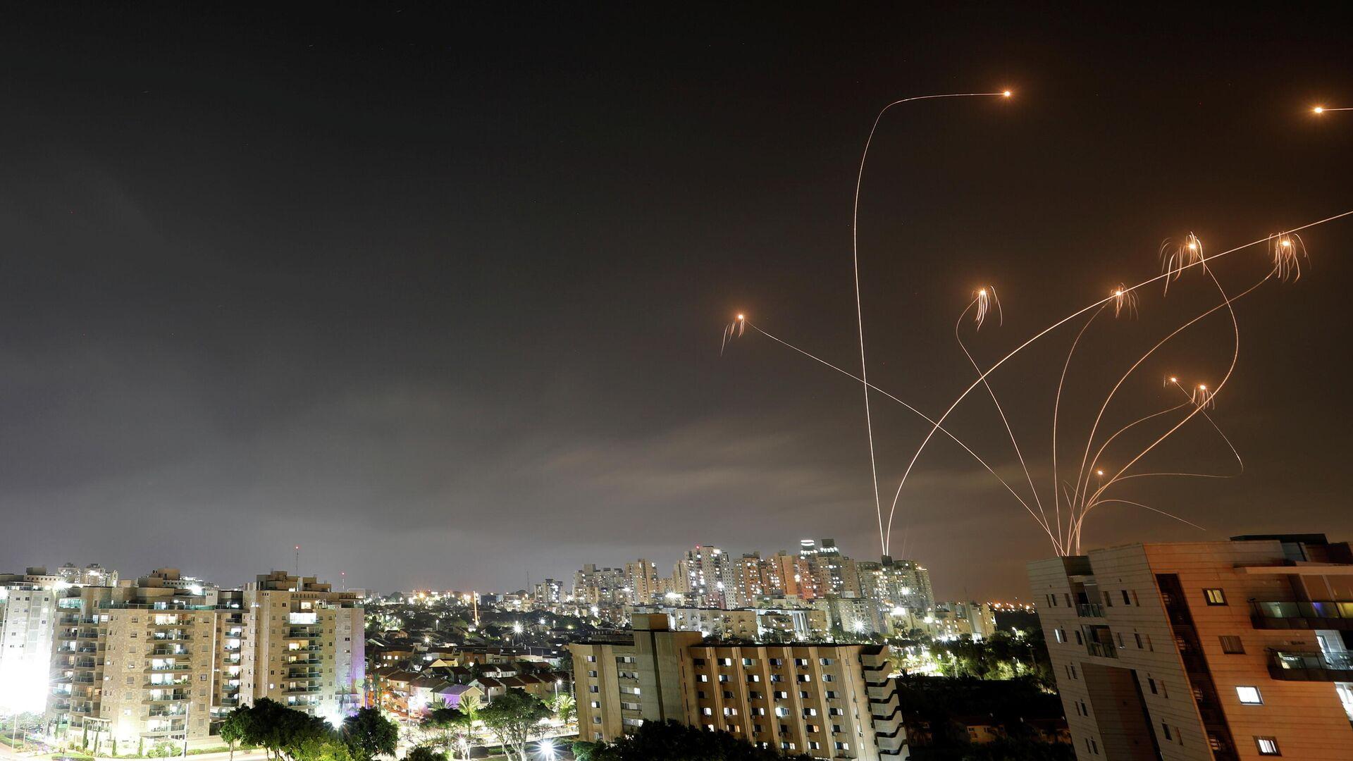 La Cúpula de Hierro israelí intercepta misiles lanzados desde Gaza - Sputnik Mundo, 1920, 23.05.2021