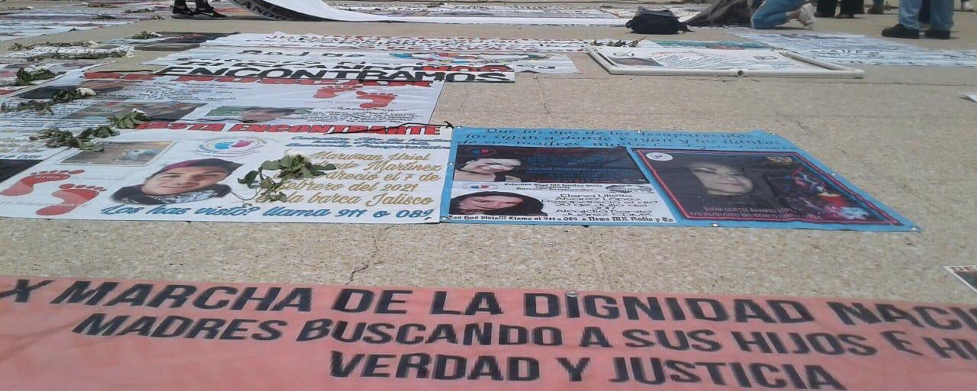 Marcha de madres en busca de hijas e hijas dsaparecidos, Ciudad de México, el 10 de mayo de 2021 - Sputnik Mundo, 1920, 10.05.2021