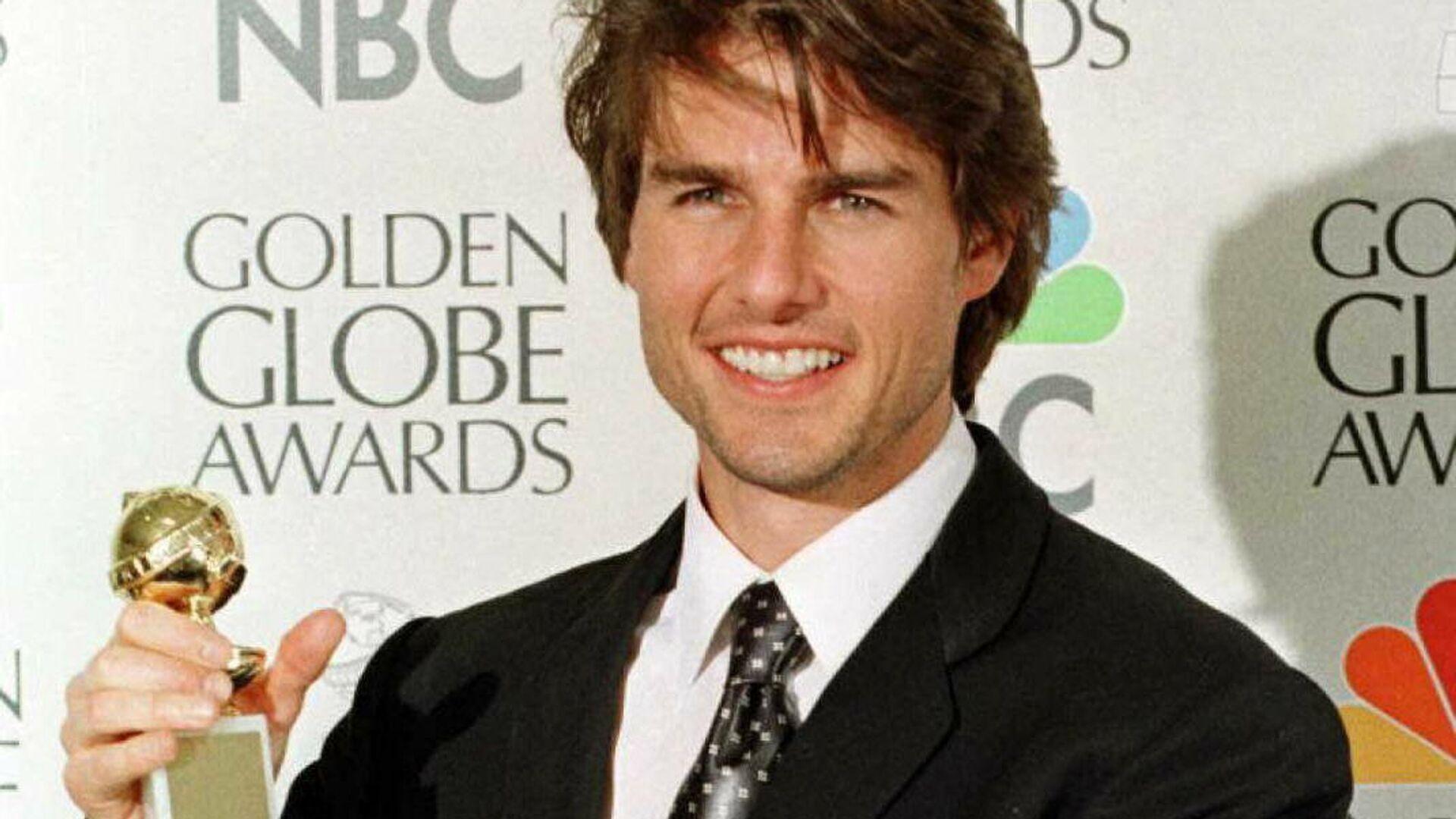 El actor Tom Cruise con el Globo de Oro por su interpretación en 'Jerry Maguire' - Sputnik Mundo, 1920, 11.05.2021