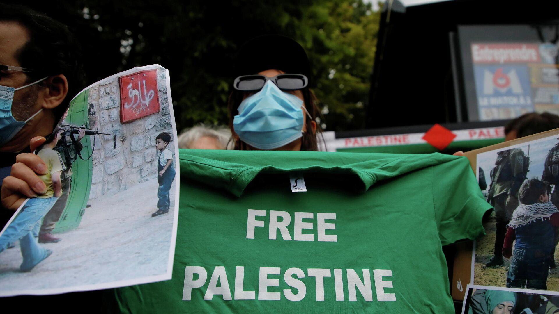 Manifestaciones a favor de Palestina (imagen referencial) - Sputnik Mundo, 1920, 19.05.2021