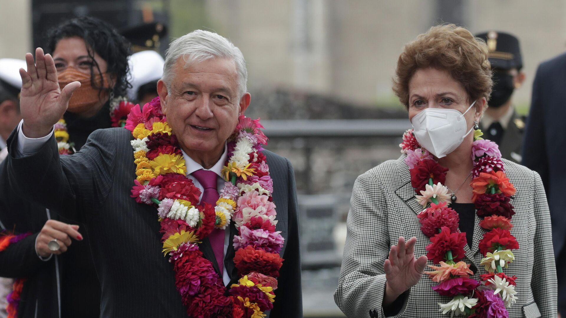 Andrés Manuel López Obrador y  Dilma Rousseff en Tenochtitlan, México - Sputnik Mundo, 1920, 13.05.2021