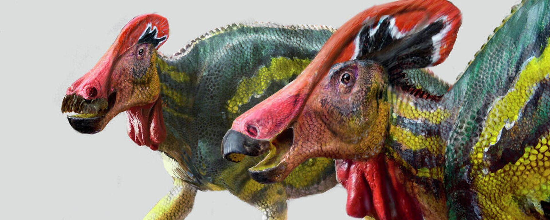Tlatolophus galorum, una especie inédita de dinosaurio crestado identificada por científicos mexicanos - Sputnik Mundo, 1920, 14.05.2021