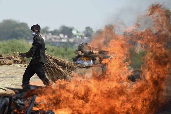 Las cremaciones de fallecidos por COVID-19 en Allahabad (la India). - Sputnik Mundo