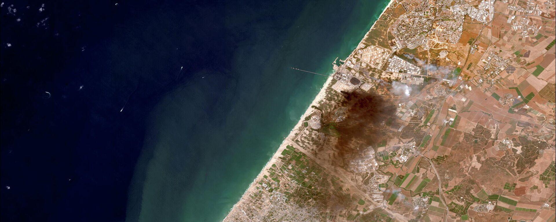 Así se ven los ataques de Israel y Hamás desde el espacio - Sputnik Mundo, 1920, 14.05.2021