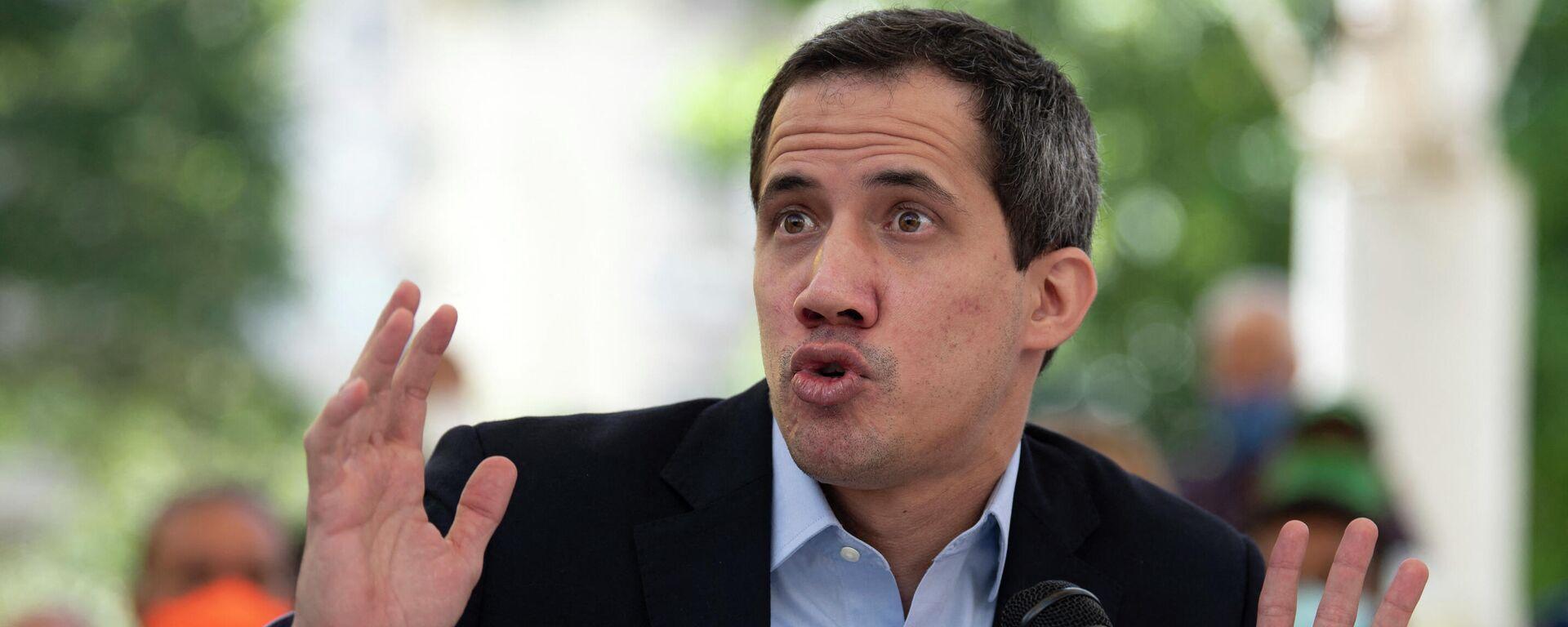 Juan Guaido durante una conferencia de prensa  en Caracas. 3 de marzo de 2021 - Sputnik Mundo, 1920, 14.05.2021