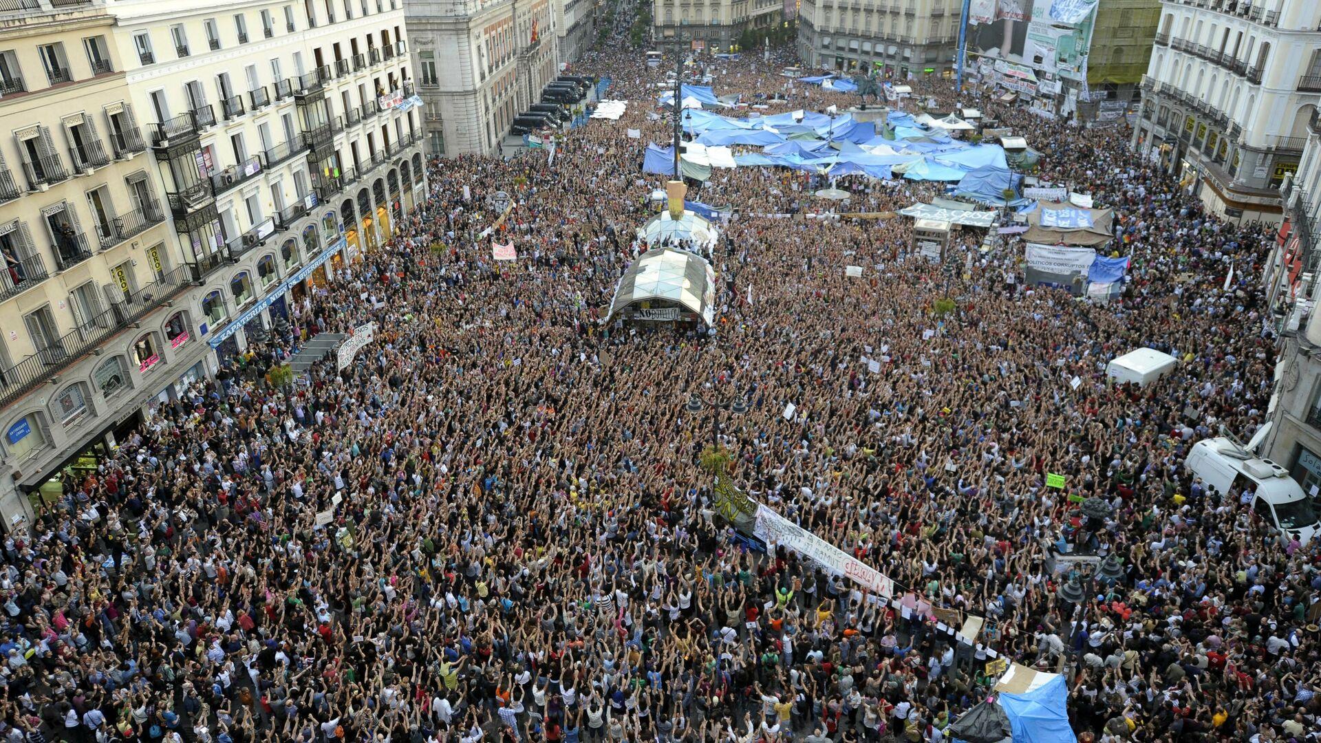 La Puerta del Sol, en Madrid, en mayo de 2011 - Sputnik Mundo, 1920, 14.05.2021