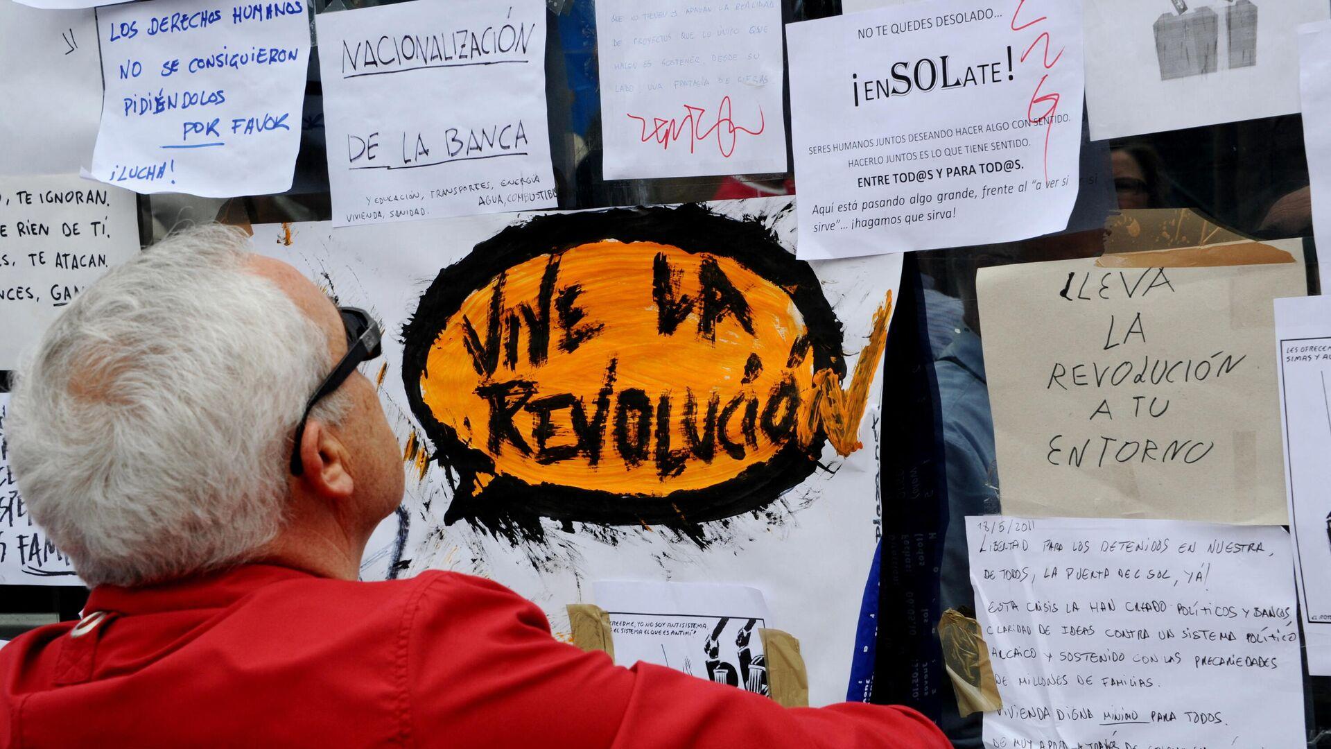 Protestas del 15-M en España - Sputnik Mundo, 1920, 14.05.2021