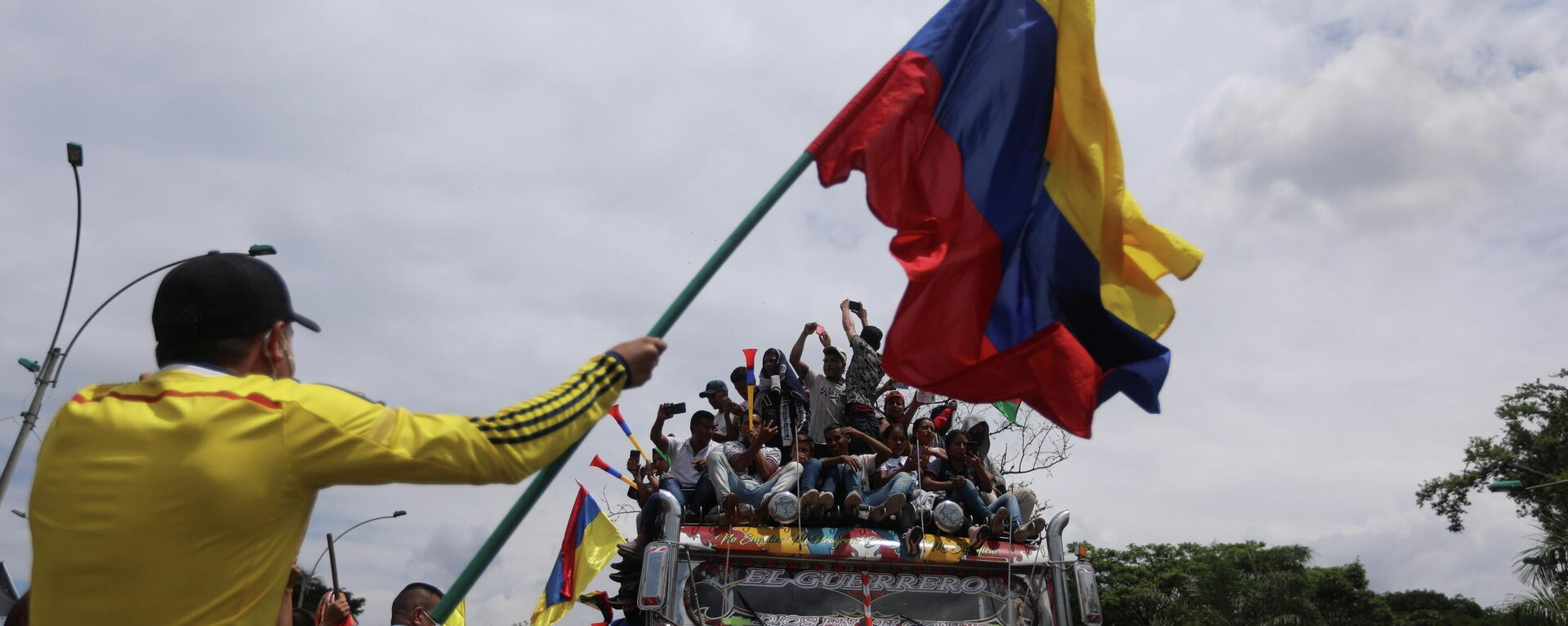 Indígenas colombianos protestando en Cali, Colombia - Sputnik Mundo, 1920, 14.05.2021