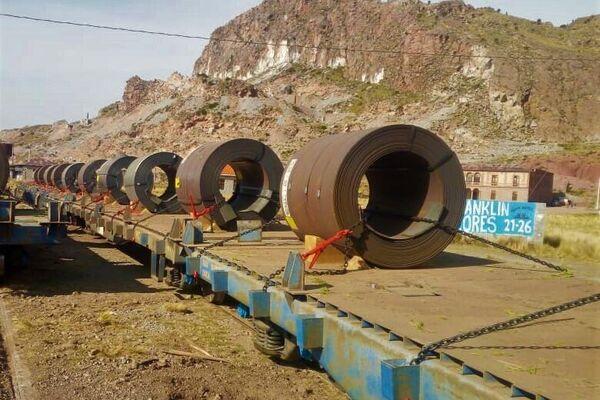 El transporte de bobinas de acero - Sputnik Mundo