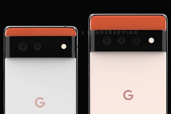 Render del smartphone Google Pixel 6 - Sputnik Mundo
