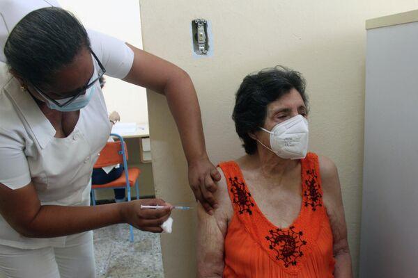 Vacunación con Abdala  - Sputnik Mundo