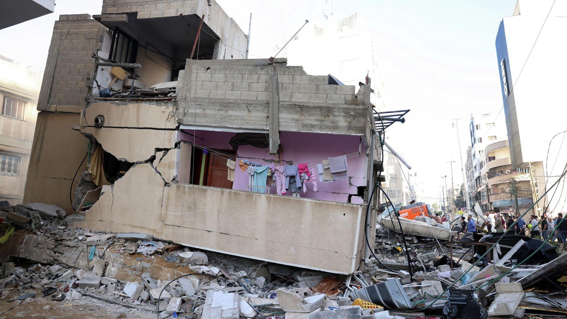 Las consecuencias del ataque israelí en Gaza, el 16 de mayo de 2021 - Sputnik Mundo, 1920, 16.05.2021